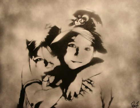 two girls by Ray Ferrer