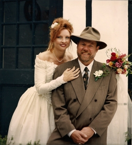 Maurine & Daniel on their wedding day, April 1, 1996