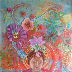Blooming Meditation by Robin Urton See more of her art at http://www.robinurton.com/