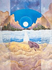 MoonPath by Diane Lee Moomey. See more of her incredible art at http://dianeleemoomeyart.com/