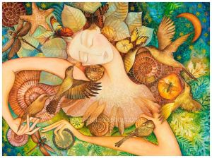 Art by permission of Holly Sierra. See more of Holly's colorful and divinely inspired art at http://www.hollysierra.com/